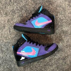 Nike Air Swoosh Purple Black Blue High Top Sz 8.5